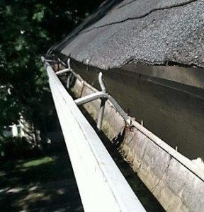 a damaged gutter