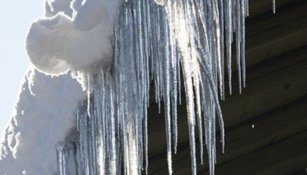 ice formation in gutter