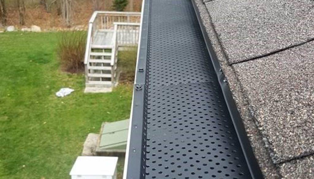 gutter guard installed in a home's gutter