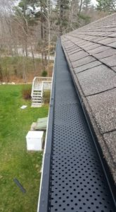 gutter guard installed in a home's gutter