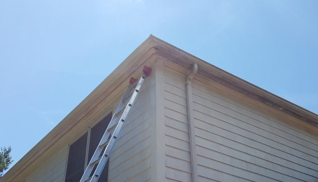 powerwashing-mold-from-exterior-of-gutter