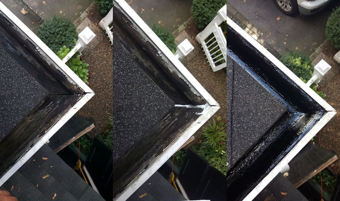 Re-Sealing Wood Gutters