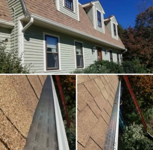 gutter guards installed on gutters